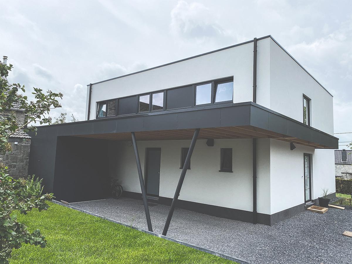 Maison Unifamiliale - Loyers - Façade avant - Owood Constructions
