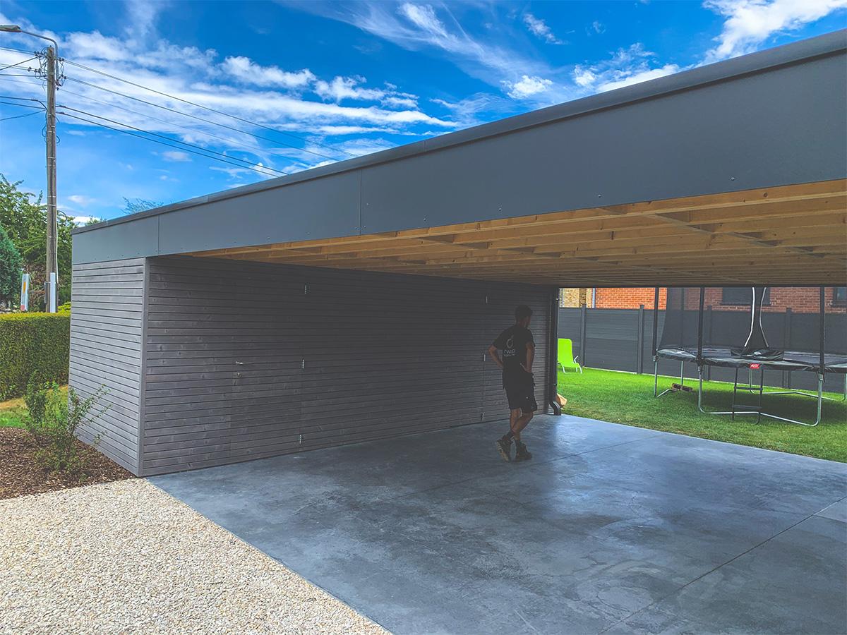 Aménagement extérieur - Courrière - Car-Port - Photo6 - O'Wood Constructions