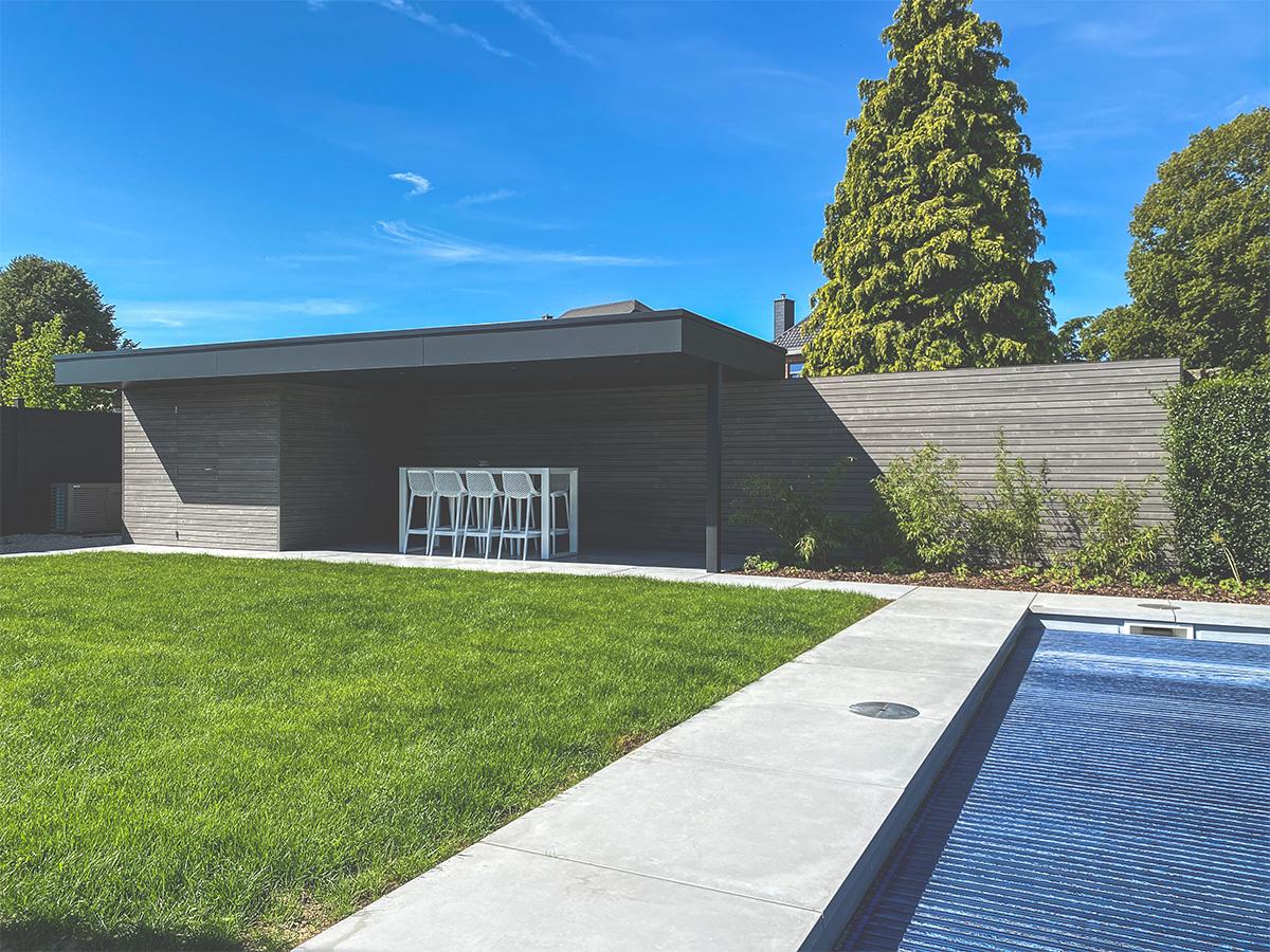 Aménagement extérieur - Courrière - Pool-house - Photo1 - O'Wood Constructions