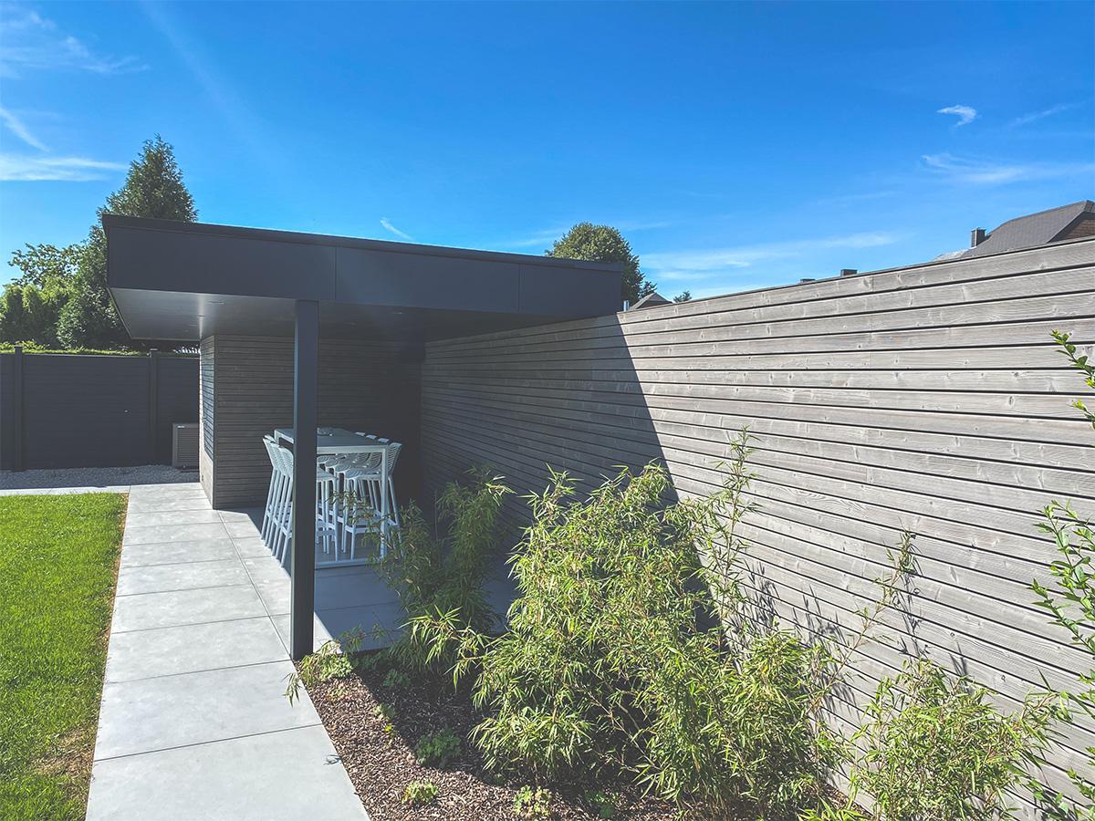 Aménagement extérieur - Courrière - Pool-house - Photo2 - O'Wood Constructions
