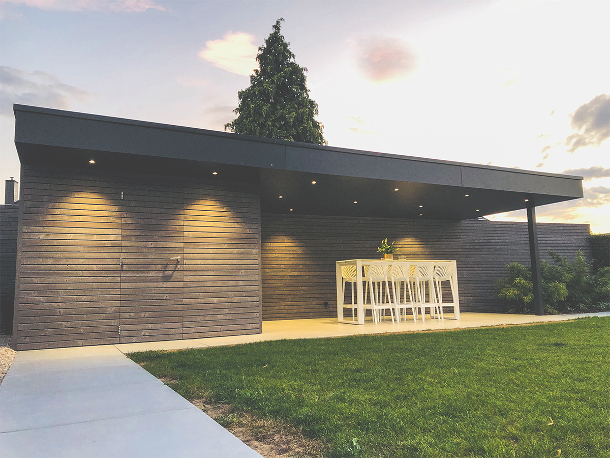 Aménagement extérieur - Courrière - Pool-house - Photo3 - O'Wood Constructions