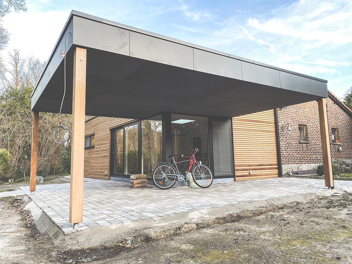 Extension - Auvelais - Photo1 - O'Wood Constructions