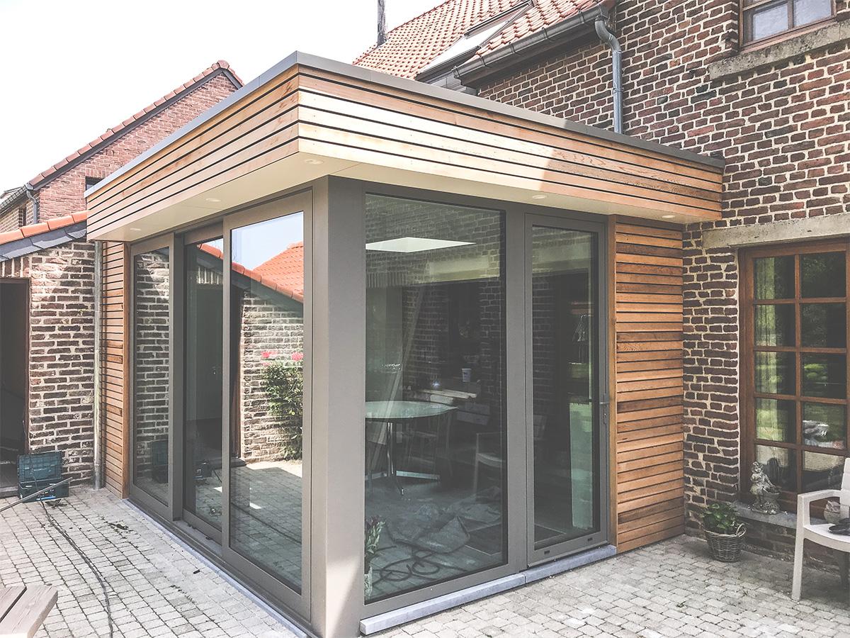 Extension - Hannut - Veranda - Photo1 - O'Wood Constructions