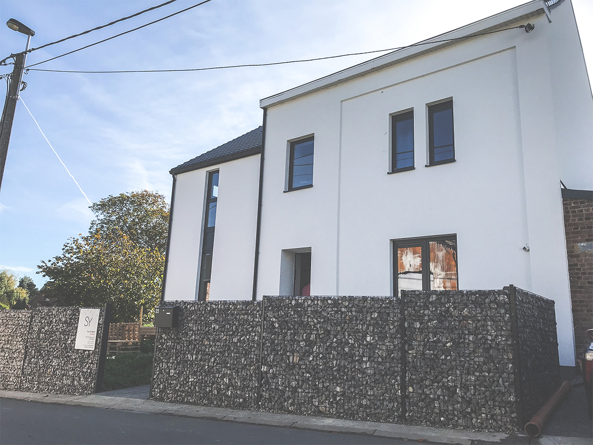 Extension - Walhain - Façade avant - O'Wood Constructions