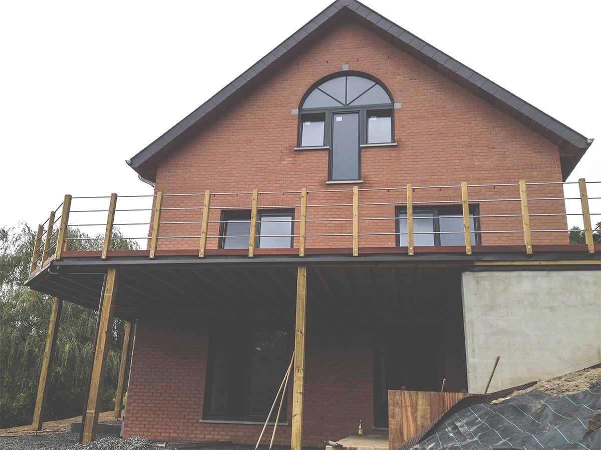 Maison Unifamiliale - Lustin - Façade avant - Owood Constructions